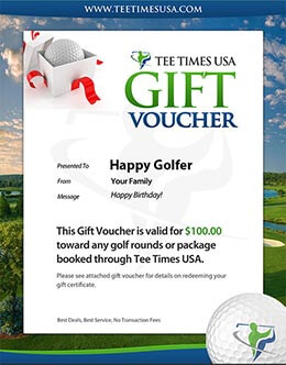 Tee Times USA Golf Gift Certificate